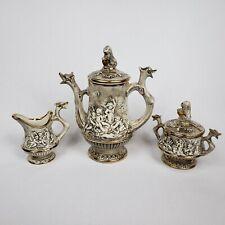 R. Capodimonte Dragon Serpent Cherub Tea Service Set