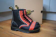 Dr MARTENS 1460 STUD LEATHER ANKLE Red Black Vintage Hero Boots UK 10 EU 45 US11
