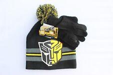 f24962b97e1ec Transformers Bumblebee Winter Hat Gloves Beanie Gloves SET Kids Boys Toddler