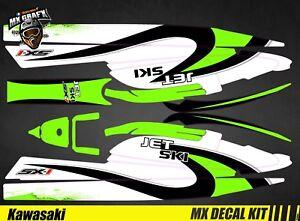 Kit Deco For / Decal Kit For Jet Ski Kawasaki 750 SX Sxr Sxi - Wave