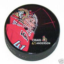 CRAIG ANDERSON Ottawa Senators PLAYER PHOTO PUCK 2013 NEW #41 In Glas Co.
