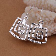 Pretty Fashion Silver plate charm lady NEW women Earring Jewelry best gift E344