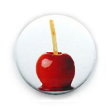 Badge POMME D'AMOUR candy apple gourmand love bonbon yummy pop pin button Ø25mm