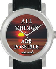 """All Things Are Possible"" Is The Inspirational Image on Dial of the Unisex Watch"