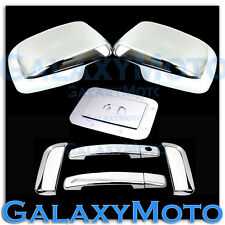 Chrome Mirror+4 Door Handle W/O PSG KH+GAS Cover for 05-07 Nissan PATHFINDER
