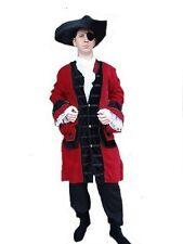 Kutscher Mantel Gehrock Gothic Mittelalter Pirat Lord Mandragor S-XXXL rot/schwa