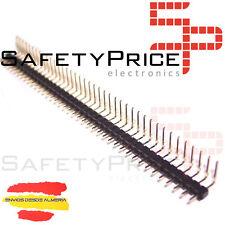 10 x Bande de 40 Broches Mâle 2,54 mm Coudés 90º Electronique Arduino