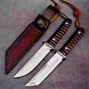 Japanese Tanto Knife Mini Samurai Hunting Tactical Combat Damascus Steel Premium