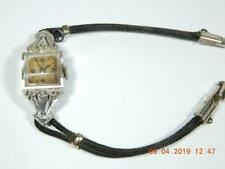 Vintage  Wittnauer Art Deco14K white Gold and Diamond watch womens mechanical
