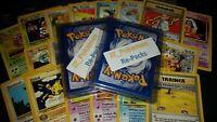 OLD Original Vintage Pokemon 10 Card LOT + 2 Guaranteed WOTC Holos Per Lot