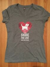 Save A Shelter Dog Share The LOVE, ADOPT Shirt, Soft Medium Gray, Women's