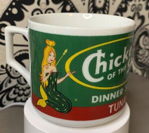 "Rare Vintage Mermaid  ""Chicken Of The Sea"" Advertisement Promotional Mug Cup"