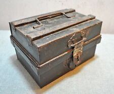 Original Old Antique Hand Crafted Small Size Iron Storage Trunk Box