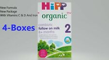 4-Boxes HiPp Uk- Organic Combiotic Follow On Milk -Stage 2 - 800g