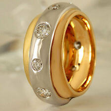 Ring 750 Gelbgold Weißgold Rotgold 10 Diamanten 1,34ct Top Wesselton vvsi Gr. 54