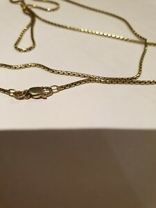 18ct  18K 750  solid Gold yellow necklace chain 8.3grm