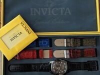 INVICTA SPECIAL EDITION LUPAH - FIVE LEATHER BANDS WATCH SET--  SWISS CALIBER