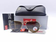 Ray Ban Aviator RB3025 001/57 Gold Frame Brown Polarized lens 58mm