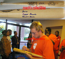 KYLE PARKER Signed GU/Cracked Louisville Slugger Bat-COLORADO ROCKIES/CLEMSON