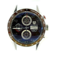 TAG HEUER MENS CARRERA CV2A12 AUTOMATIC CHRONO BROWN DIAL FOR PARTS REPAIRS