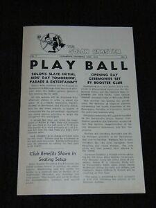 """ORIGINAL APRIL, 1954 """"THE SOLON BOOSTER"""" SACRAMENTO SOLONS BASEBALL NEWSPAPER"""