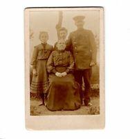 CDV Foto Soldat mit Familie - 1900er