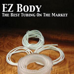 E-Z BodyTubing Pearl Black Natural Peacock - Small Medium Large X-Large Mega EZ