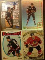 LOT OF 4 TONY AMONTE NHL PARALLEL / INSERT CARDS Chicago Blackhawks