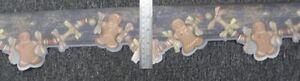 Ginger Bread Men Cottage Style Wallpaper Border Christmas Gingerbread Blue