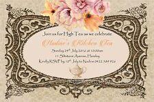 Vintage Floral Kitchen High Tea Party Invite Invitation Bride to Be Birthday