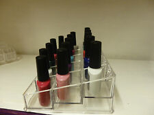 Acrylic nail polish display holder case organizer storage make up 15 section uk