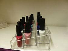 Soporte de exhibición de acrílico esmalte de uñas Estuche Organizador Almacenamiento Maquillaje 15 sección UK