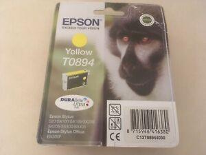 Genuine Epson T0894 DuraBrite Ultra Monkey Yellow Ink jet Print Cartridge, TO894