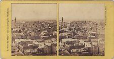 Vue du Caire Photo W. Hammerschmidt Stéréo Vintage Albumine ca 1860