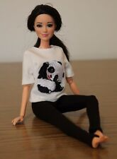 """Clothes for Barbie Doll. T-shirt """"Panda"""" and Leggings for Dolls."""