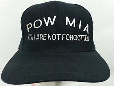 POW MIA Ball Cap SNAP BACK One Size Fits Most YOU ARE NOT FORGOTTEN Zap Caps