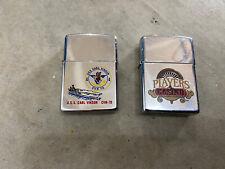 (2) Zippo Lighter Players Casino Uss Carl Vinson Cvn-70. See Other Zippos Pair
