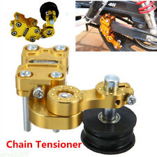 Motorcycle Cruiser Custom Billet Chain Tensioner Golden Aluminum Adjuster