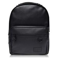 Firetrap Backpack Bag Synthetic Leather Black Rucksack Retro City Travel H40cm
