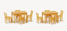 Preiser 17218 scala H0 2 tavolo, 8 SEDIE COLORE LEGNO Kit di costruzione # NUOVO