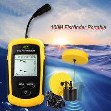 Handheld Fish Finder 200kHz 100M Portable Sound Sonar Depth Detector Transducer