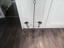 Rustic metal 4 candle holder