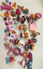 Lalaloopsy Mini Dolls Lot 12 w/ Pets ~ Furniture Accessories Drinks Money Guitar