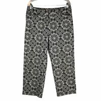 Talbots Women's Size 12 Geo Cropped Straight Leg Pants
