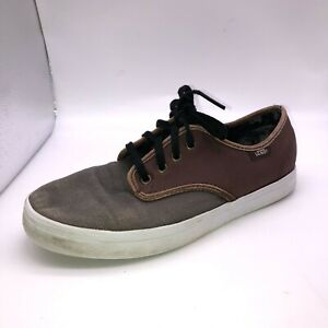 Vans TB4R Mens Size 6.5 Gray Brown Lace Up Low Top Skateboarding Sneakers Shoes
