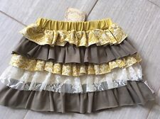 Girls Swanky Baby Vintage Madilyn's Multi Tiered  Ruffle Skirt  Lace Size S 2/3