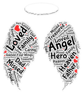 in loving memory dad word art print can be any family member just add message