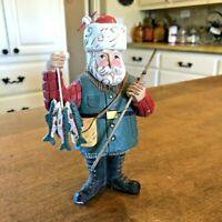 Santa Fisherman Figurine Pine Tree Lodge Midwest Importers of Cannon Falls