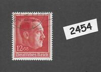 #2454   Used Postage stamp / Adolph Hitler / 1938 Birthday / Third Reich Germany