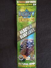 1 x Black N Blueberry Juicy Jays Organic Vegan Toasted Hemp - 2 Wraps / Pouch